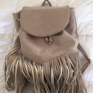 Handbags - Fringe Backpack